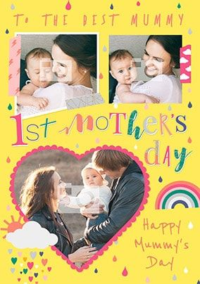 Best Mummy First Mother's Day Photo Card