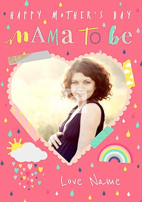 Mama To Be Mother's Day Photo Card