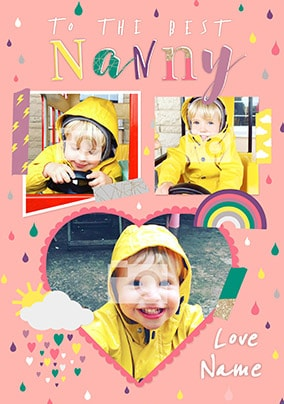 The Best Nanny Multi Photo Card