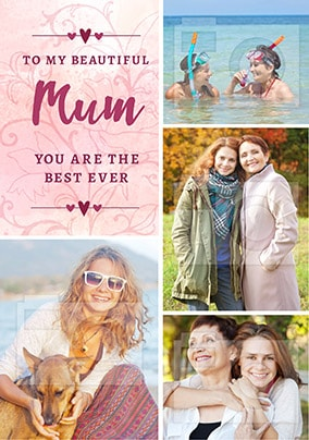 Beautiful Mum Multi Photo Card