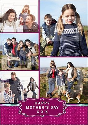 Happy Mother's Day Banner Multi Photo Card