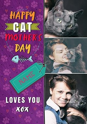 Cat Mother's Day Multi Photo Card