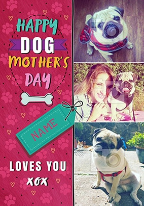 Dog Mother's Day Multi Photo Card