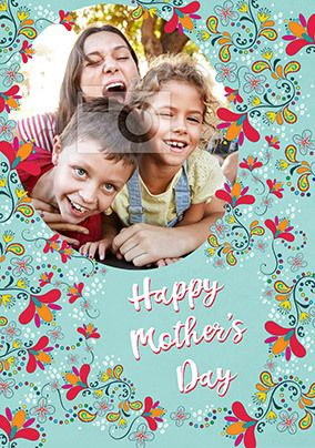Happy Mother's Day Pattern Photo Card