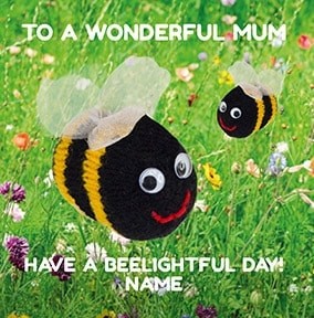 Beelightful Personalised Mothers Day Card