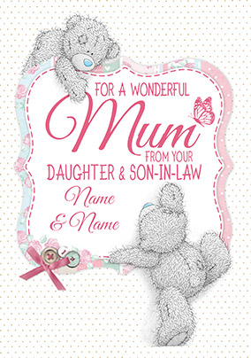 From Your Daughter & Son-in-Law - Tatty Teddy Mother's Day Card