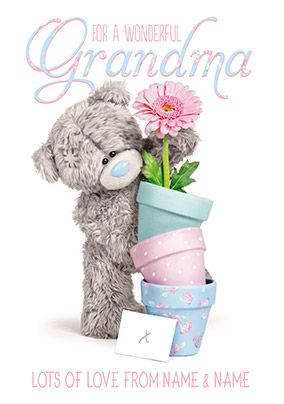 For Grandma Mother's Day Card flower & pots - Me to You Photo Finish