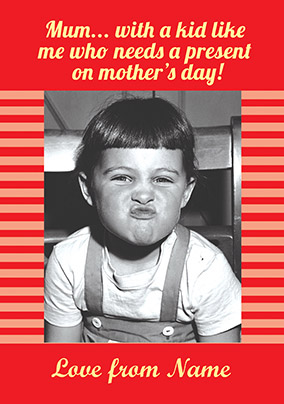 Funky Kids - Mother's Day Card with a Kid like me