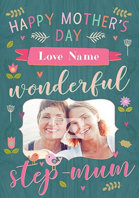 Happy Mother's Day Wonderful Stepmum Photo Card
