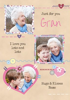 Just For You Gran Photo Mother's Day Card