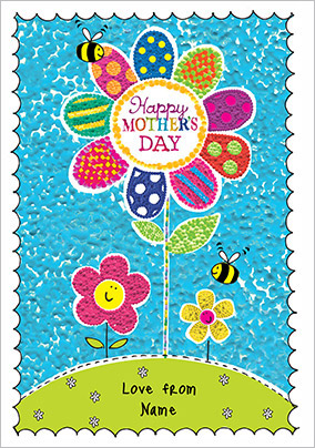 Flower and Bees Mother's Day Card