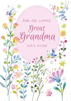 Lovely Great Grandma Personalised Mother's Day Card