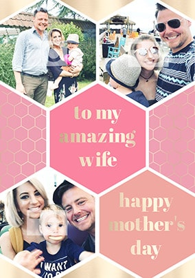 Amazing Wife Multi Photo Mother's Day Card
