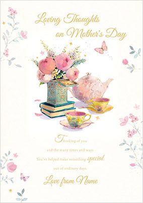 Lovely Thoughts Mother's Day Personalised Card