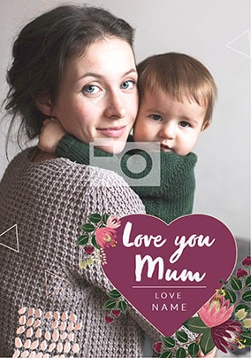 Love You Mum Mother's Day Photo Card