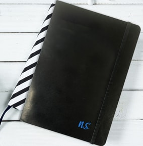 Your Initials Leather Effect Notebook