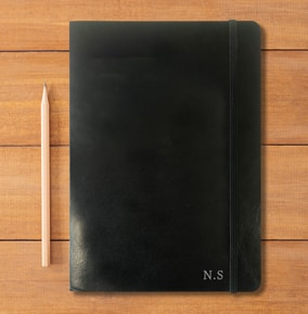 Initials Personalised Leather Effect Notebook