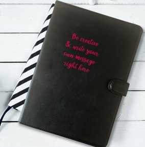 Leather Notebook - Write Your Own Message