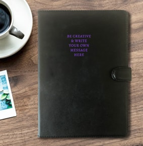 Leather Notebook - Create Your Own Message