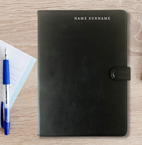 Your Name Personalised Leather Notebook