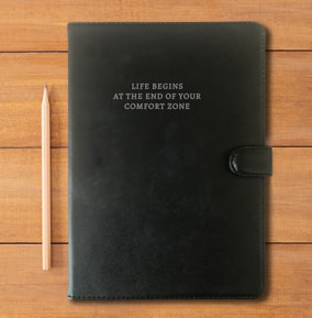 Personalised Quote Leather Notebook For Him