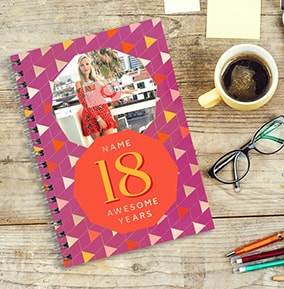 18 Awesome Years Birthday Photo Notebook