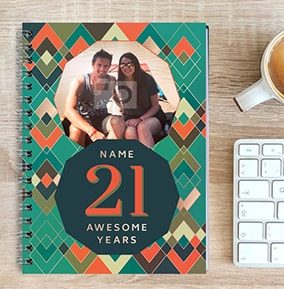 21 Awesome Years Birthday Photo Notebook