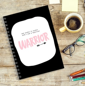 I Am A Warrior Personalised Notebook