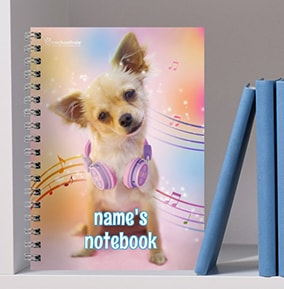 Chihuahua Personalised Notebook Musical