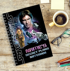 Star Wars - Han Solo Personalised Notebook [A5]