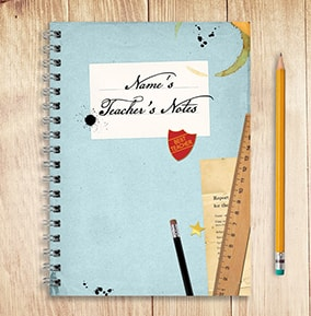 Teacher Notes Personalised Notebook