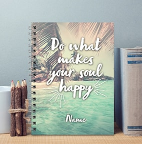 Happy Soul Personalised Notebook