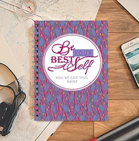 Be Your Best Self Personalised Notebook Inspirational