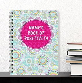 Book Of Positivity Personalised Notebook