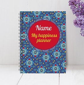 Happiness Planner Personalised Notebook