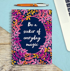 Everyday Magic Personalised Inspiration Notebook