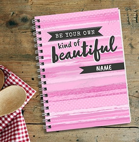 Your Own Kind Of Beautiful Personalised Notebook Pink