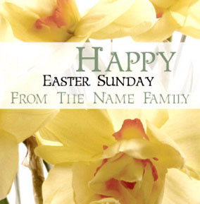 Antique Sentiments - Easter Daffodils