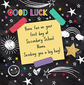 Good Luck at Secondary School Personalised Card