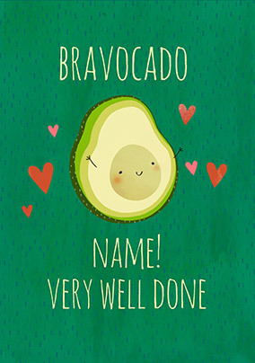 Bravocado Personalised Card