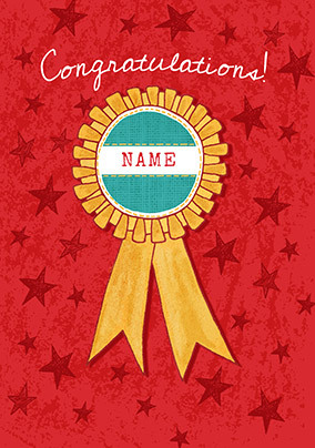 Congratulations Badge Personalised Card