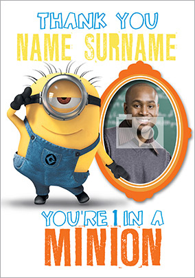 Despicable Me 2 - Photo Upload Minion Thank You