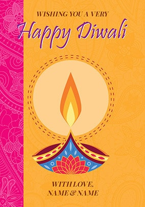 Wishing You A Happy Diwali Personalised Card