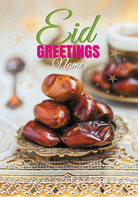 Eid Greetings Dates Personalised Card