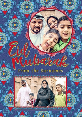 Eid Mubarak Multi Photo Card