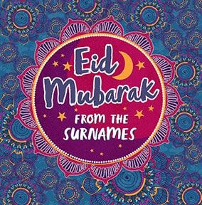 Eid Mubarak From The Family Personalised Card