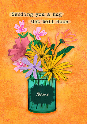 Get Well Soon Hug Personalised Card