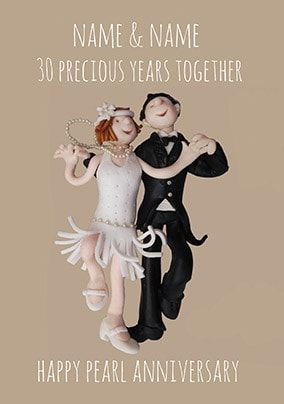 30 Years - Pearl Anniversary Personalised Card
