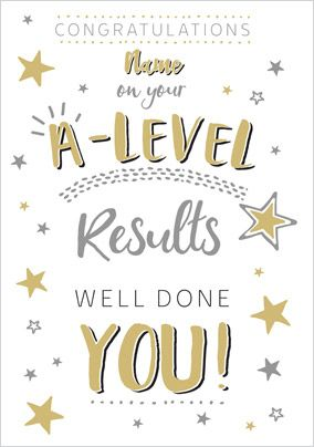 A-Level Congratulations Personalised Card
