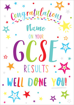 GCSE Results Personalised Card
